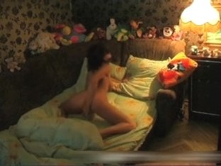 My busty girl masturbating naked