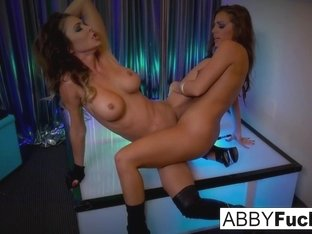 Abigail Mac  Jessica Jaymes in Abigail Mac Strips Then Fucks Her Stripper Friend - AbigailMac