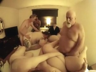 Hot swinger party with BBW wives shared with strangers