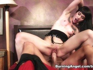 Crazy pornstar Xander Corvus in Horny Brunette, Emo porn clip