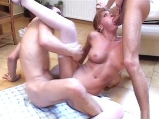Horny pornstar in crazy blowjob, threesome xxx clip