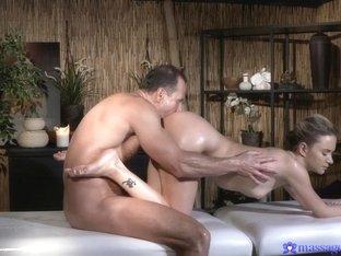 Horny pornstars George, Brittany Stone in Amazing Massage, Tattoos porn scene