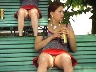 Hairless vagina shown in public