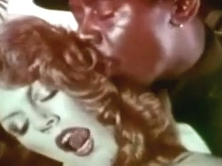 Vintage interracial fuck with great redhead
