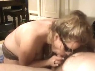 Sexy MILF with big boobs giving me the greatest blowjob ever