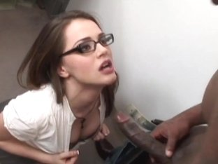 Tori Black wraps her wet lips round this huge prick
