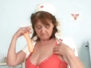 Busty amateur grandma cumshot dildo masturbation