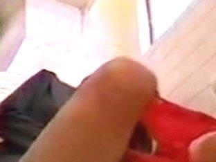 Spy camera manages to record this Asian beauty masturbating