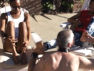 BlackGirlsWhiteSlaves: Poolside Service