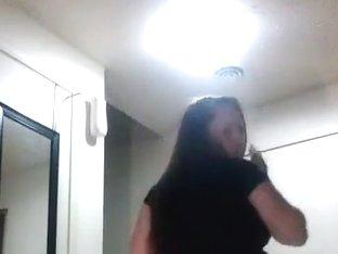 Insane twerk phone panty clip