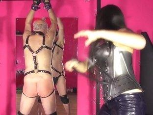 Mistress Ezada Sinn and Roberta - The Test of The Whip 2014