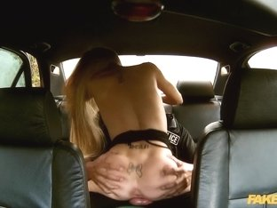 Carmel in Truck Stop Delight: Tiny bodied slut fucked in police car - FakeCop