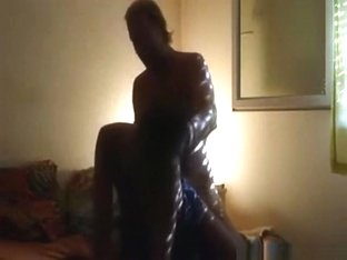 Moaning dark haired girl sucks cock and has doggystyle sex