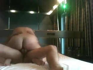 Big booty brunette watches herself ride cock in the mirror