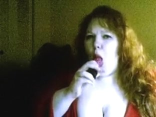 Dick hugry shaggy large delicious woman sucks her fancy toy with enjoyment