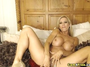 Big Tits MILF Masturbating With A Dildo