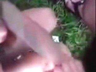 Legal Age Teenager cutie Sucks 2 weenies in public woods on home episode