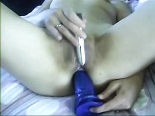 My wife dildoing her arse
