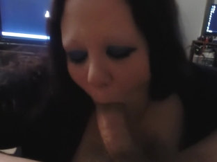 Babe with huge bust licks my hammer
