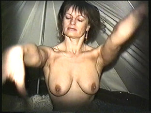 Yvonne undressed in a tent