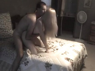 Blonde girl sucks her bf hard and gets her pussy fucked