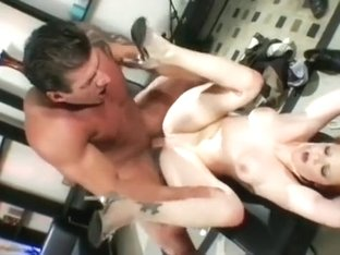 A filthy redhead babe enjoys being sodomized by a well hung stud