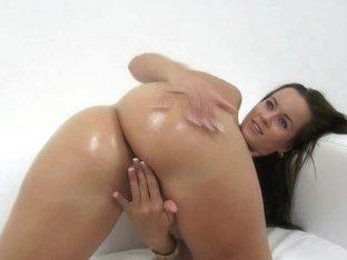 Super CHICK Sexy Masturbation on Casting Ottoman