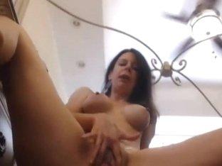 Busty Lady Strips and Masturbates