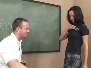 InnocentHigh Hot schoolgirl Jada Stevens bangs teacher