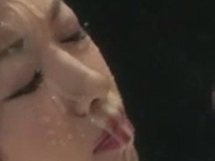 massive explosive facial spunk flow for oriental beauty