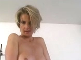 Blonde mother I'd like to fuck disrobes for us