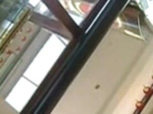 Shot skirt of a nice babe gets filmed on a spy cam