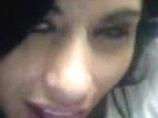 Latina babe sucking big cock while dirty talking to me