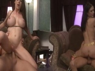 Amazing pornstars Jessica Jaymes and McKenzie Lee in hottest big cocks, brunette adult video