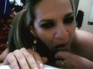 Latina whore blows a schlong