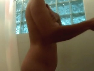 shower spy web camera on breasty hard nippled aged - compilation