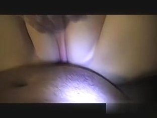 Covering her face in some hot cum after a short fuck