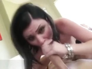 Brunette Cum Swallow After Face Fuck