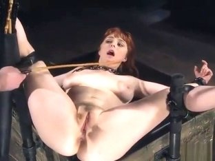 Ass, pussy and feet caned girl