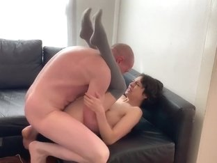 Horny Couple Fucks Like Weasels, Ruins Couch