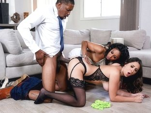 Ashley Adams & Misty Stone & Isiah Maxwell in Our Cute Little Plaything 3 - BrazzersNetwork