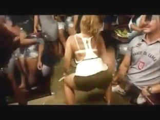 Brasilian Girl Dancing in Pub