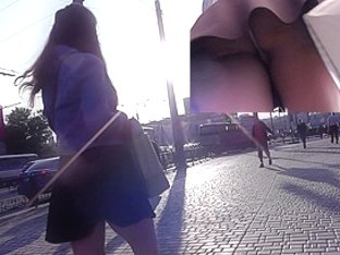Real upskirts are presented by gorgeous athletic girl