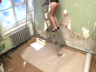Brunette fucked in hidden porn
