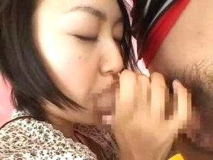 Exotic Japanese chick Akina Hara in Crazy Cunnilingus, Facial JAV scene