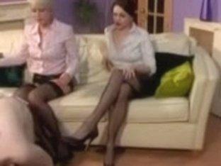 Six Nylons Legs Dominant-Bitch Sub