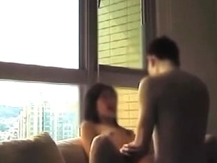 Delightsome chinese gal having sex in her apartment