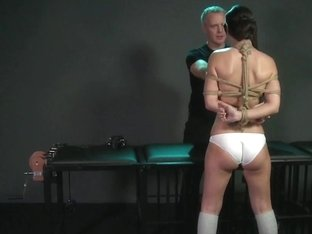Magic wand orgasms prove too much for filthy subs