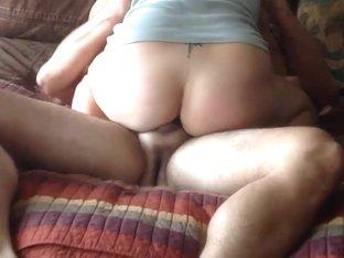 Amateur MILF riding fat dick to creampie