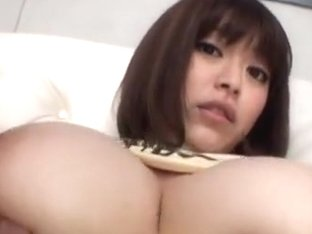 Marie Momoka Asian babe sucks cock and gives hot tit fucking